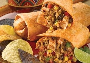 Spicy Southwest Chicken and Rice Wrap.