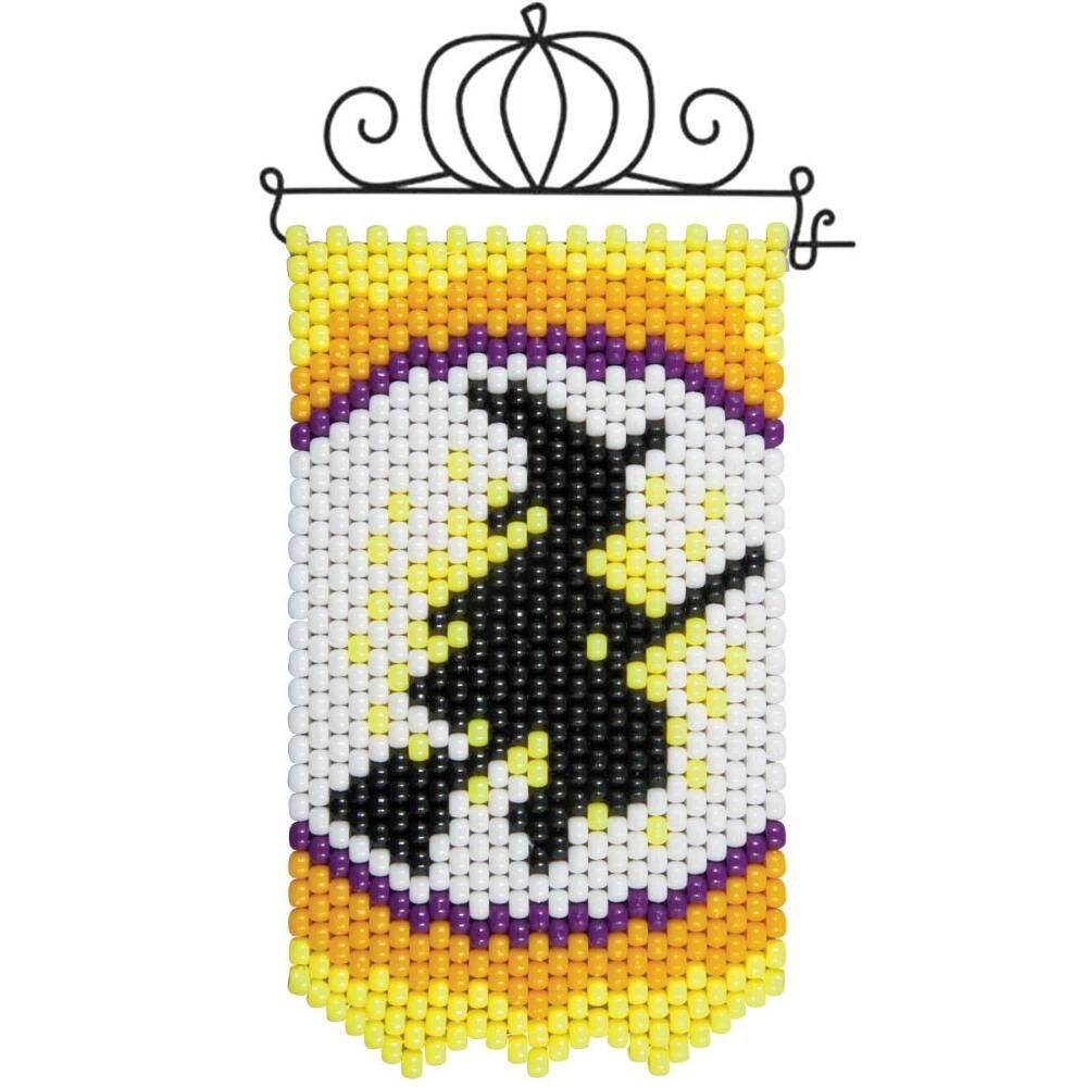 Herrschners® Halloween Witch Silhouette Mini Banner & Hanger Beaded ...