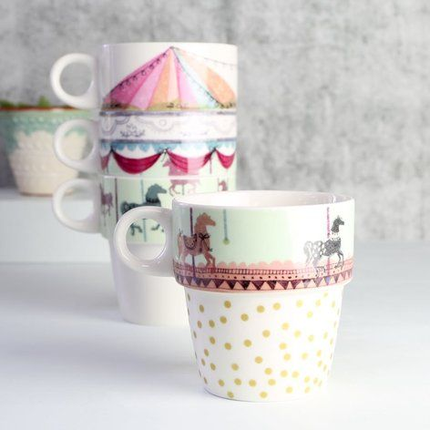 Disaster Designs . Merry Go Round Inspired Stacking Cups . { How Super