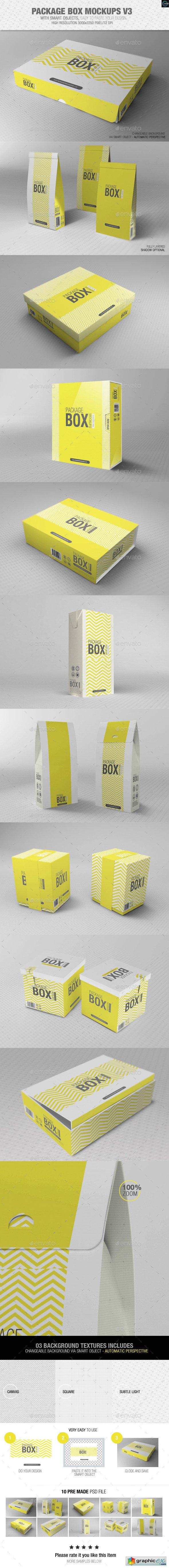 Download Package Box Mockups Vol3 Box Mockup Packaging Mockup Box Packaging