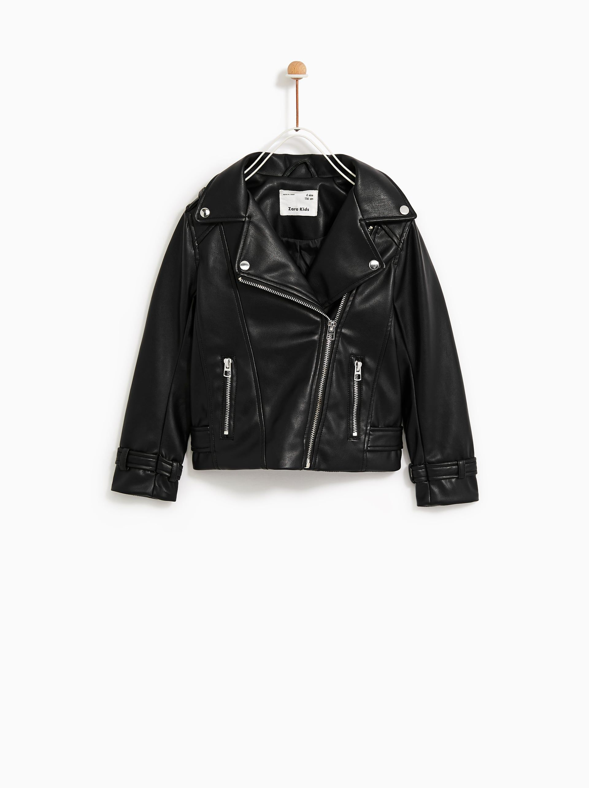 052d0a843 Leather look biker jacket | Baby girl | Zara outfit, Outerwear ...