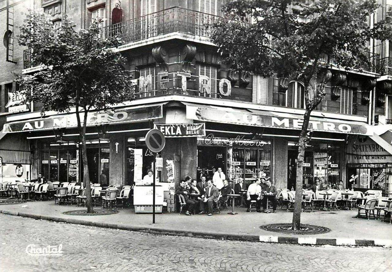 Le caf brasserie au m tro 261 avenue gambetta la porte des lilas paris vers 1955 - Restaurant porte des lilas ...