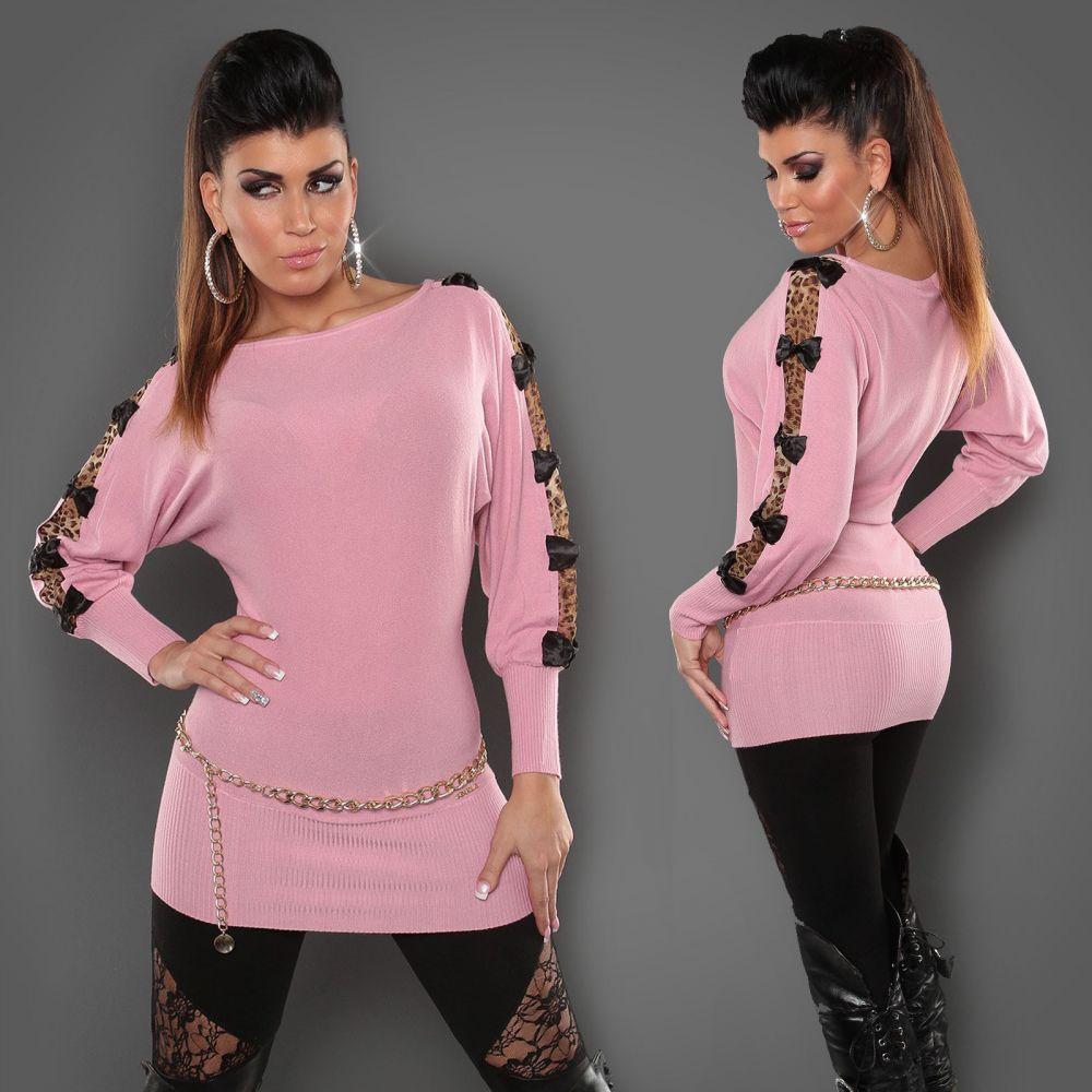 612c4bfff Rózsaszín denevérujjú kötött miniruha/tunika | Női divat | Tunika ...