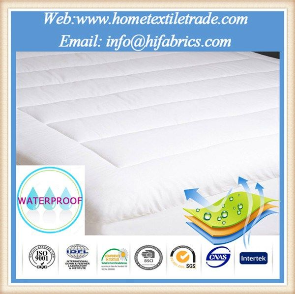 bonded pattern and waterproof bamboo terry mattress protector in
