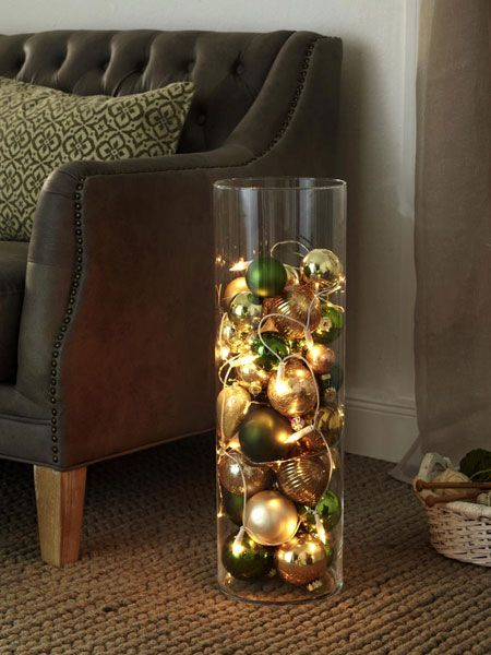 Bodenvasen dekorieren ideen weihnachten wohn design - Bodenvasen deko ideen ...
