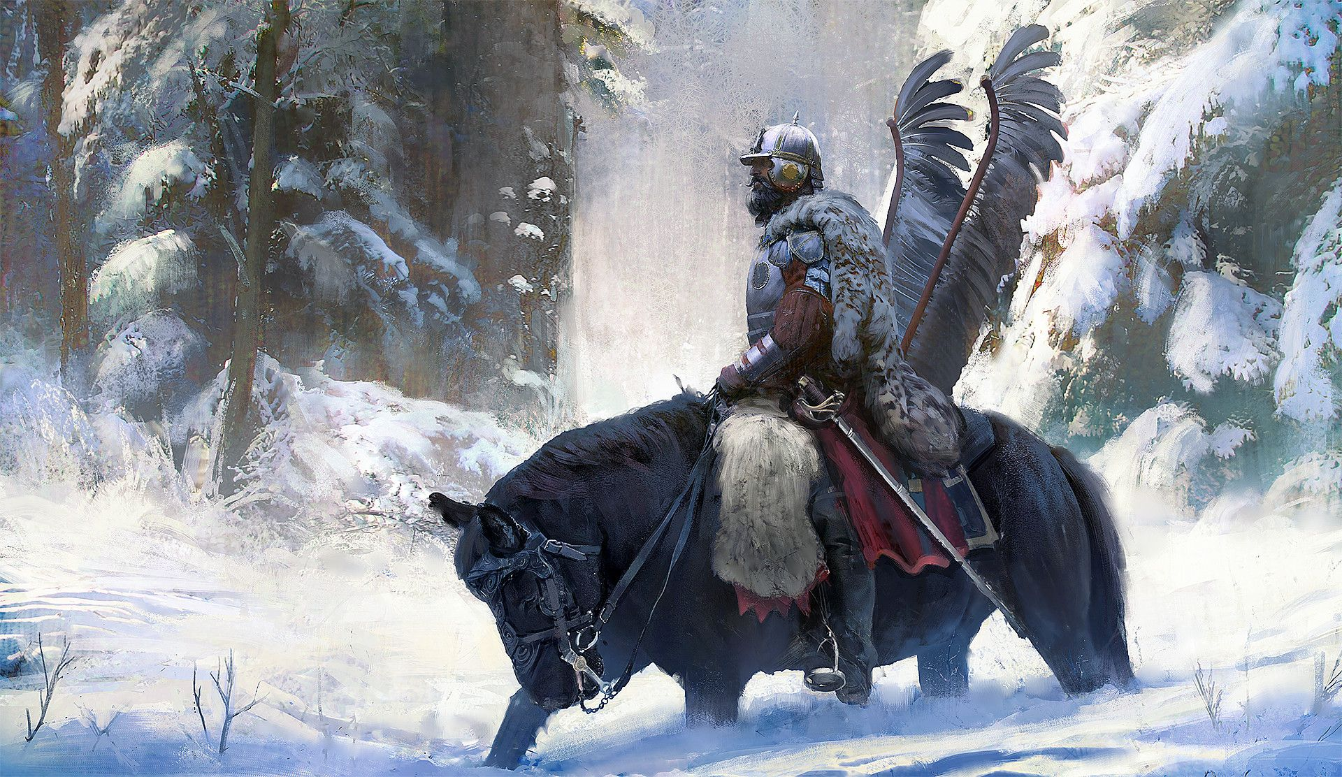 polish concept artist's painting tribute to one of the best cavalries in Europe - Polish Hussars.