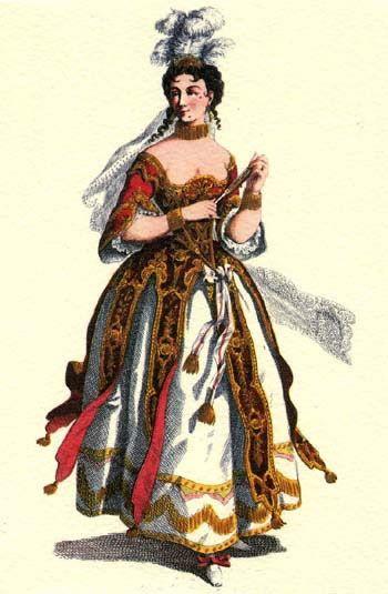 la cantatrice. Tradizioni: Maschere italiane della Commedia dell'Arte e altre Maschere italiane, nel Sito di Vastospa