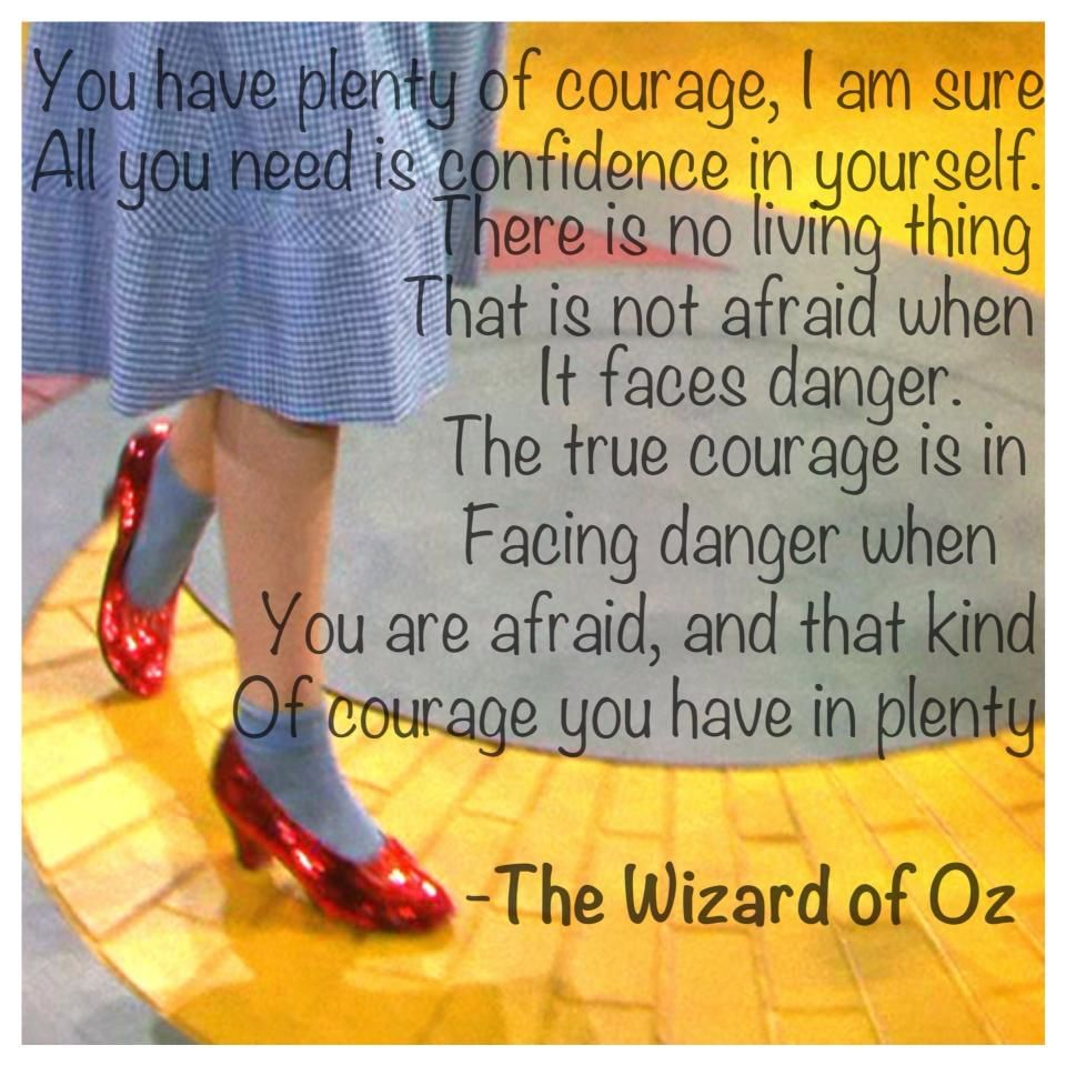 Badge of Courage, Wizard of Oz, Courage, Fear, Danger, Confidence