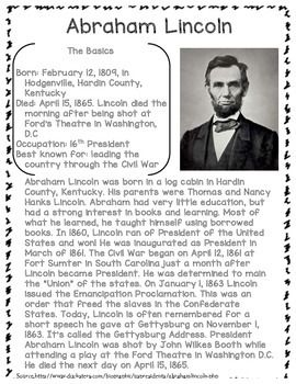 Heroe In History Abraham Lincoln Homeschool Social Studie Writing Notebook Essay About On 200 Word Lincoln' Second Inaugural Addres Hindi