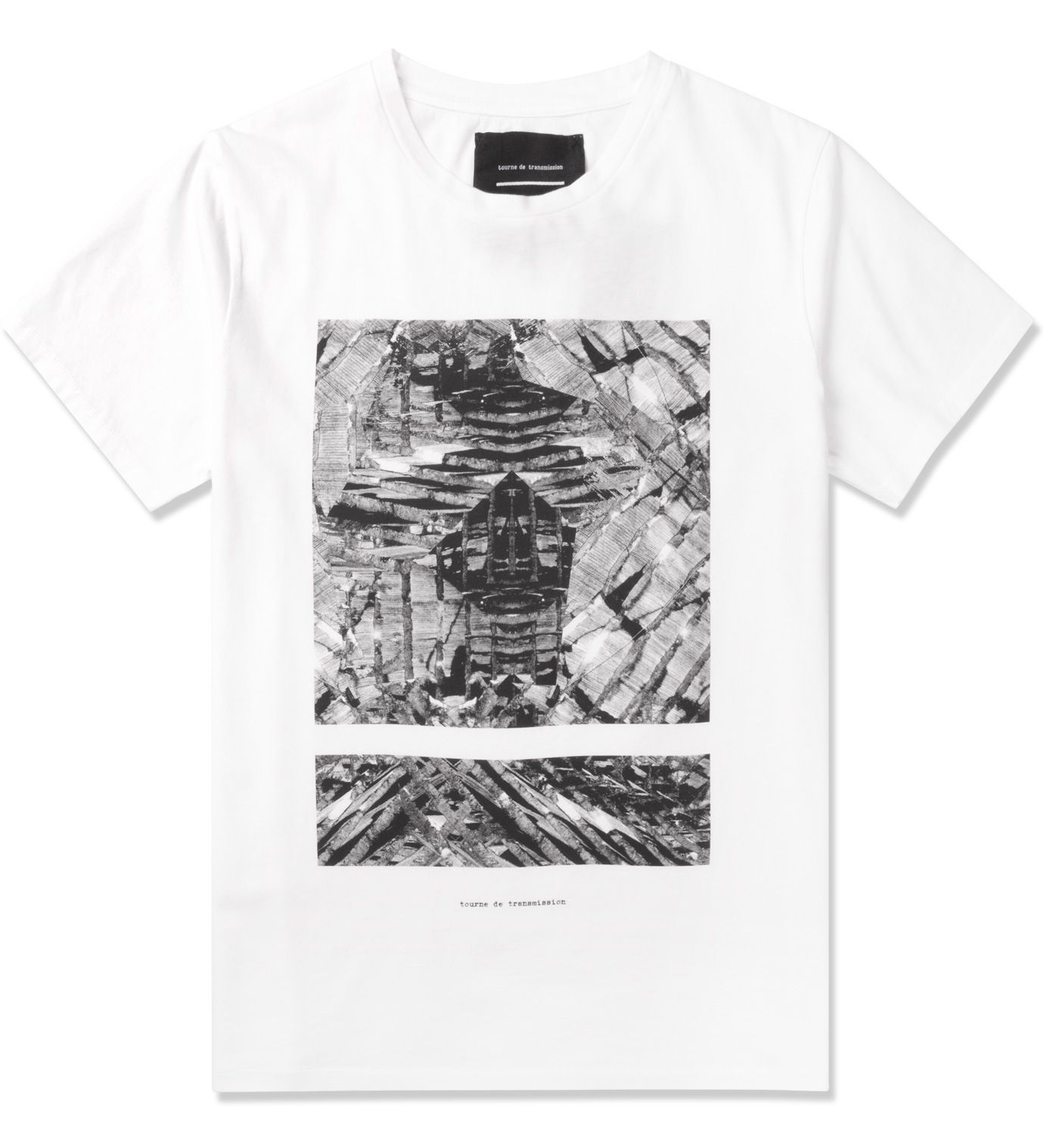 Tourne de Transmission White Shatter Split Box Print T-Shirt ...