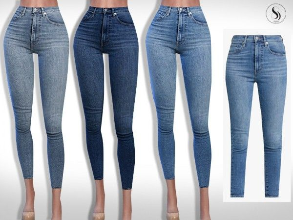 The Sims Resource: Mile High Super Skinny Jeans by Saliwa • Sims 4 Downloads 1