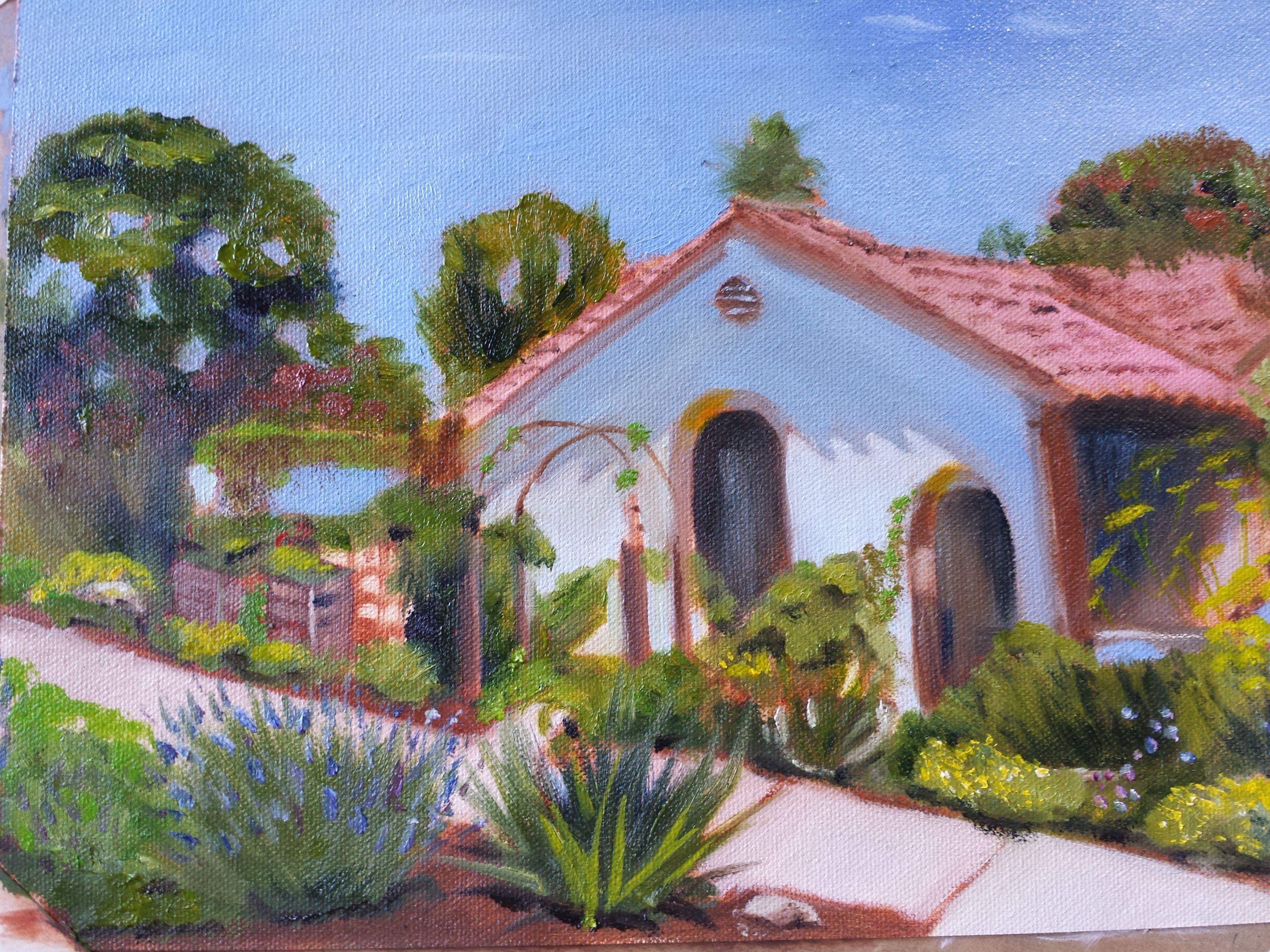Spanish bungalow. Oil. 2014