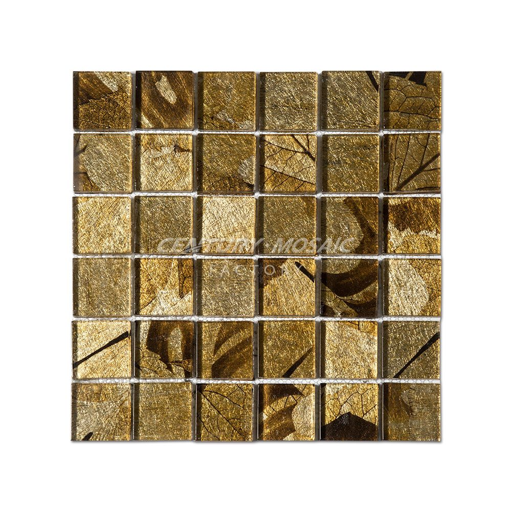 Polished-48mm-Crystal-Glass-Square-Mosaic-Tile | Glass Mosaic ...