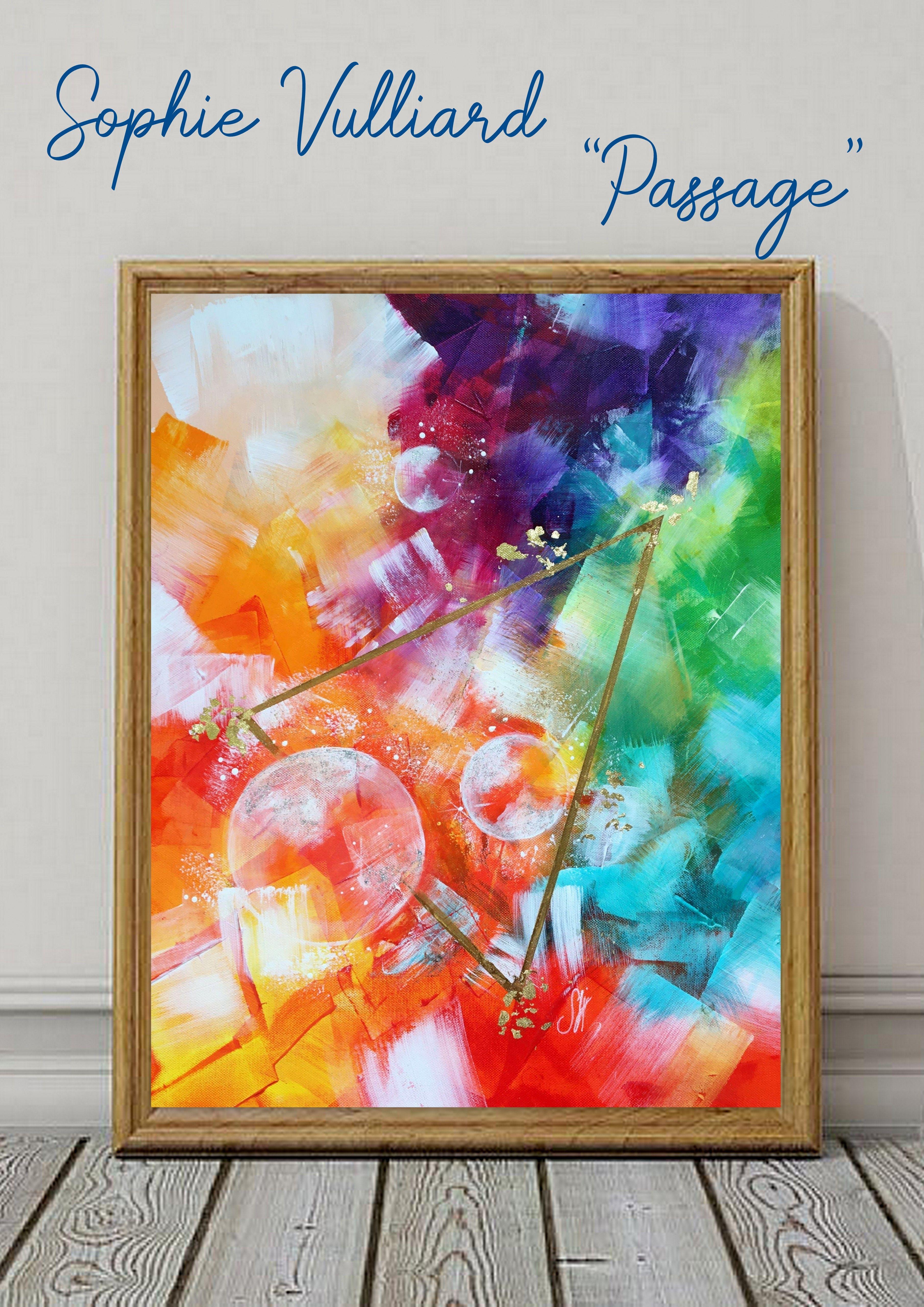 Peinture Vibratoire Peinture Intuitive Couleurs De L Arc En Ciel