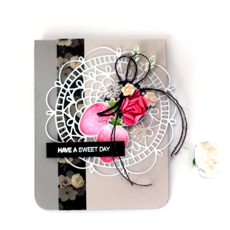 Berry Sweet Day Card by Julia Stainton
