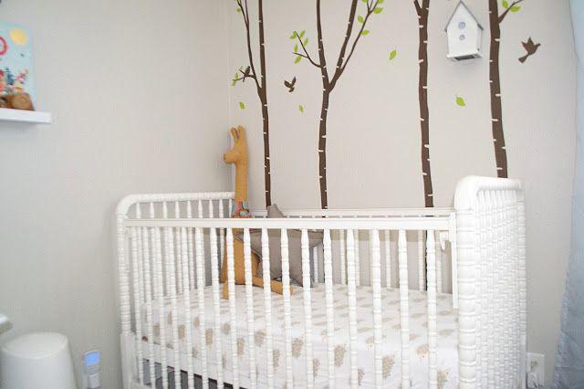 the Three Little Birdies Woodsy Boy Nursery Tree decal for a boys