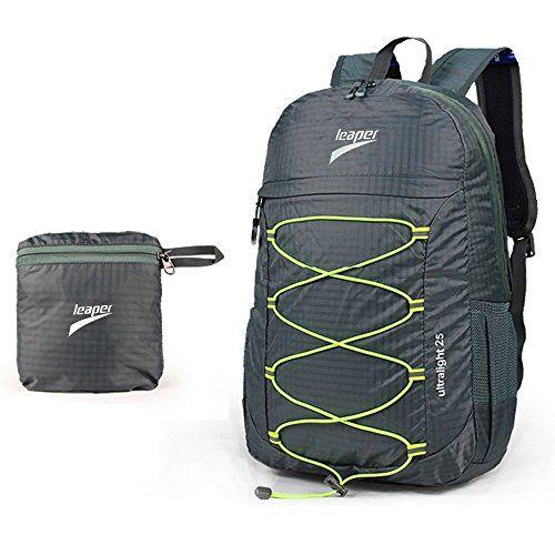 Leaper Outdoor Ultralight Waterproof Travel Backpack 25L Foldable ...