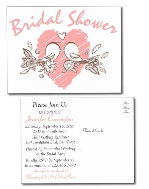 Bridal shower invitation postcards are the economical alternative to bridal shower invitation postcards are the economical alternative to expensive invitations as they cost less and filmwisefo