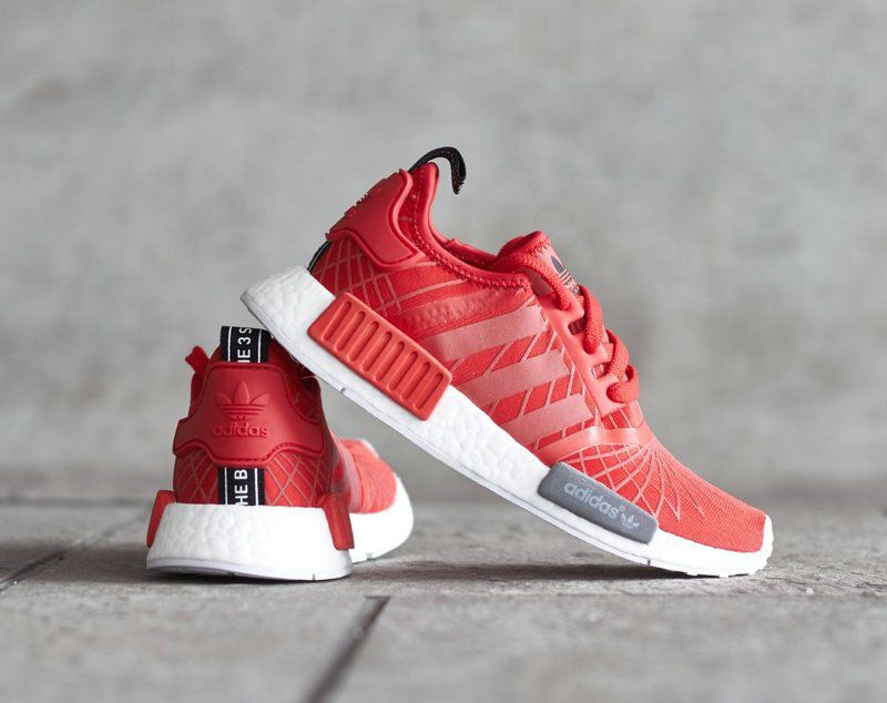 ed597ca0a4f23 Spring Summer 2018 Real Unisex Adidas NMD R1 Red Spider White S79385 ...