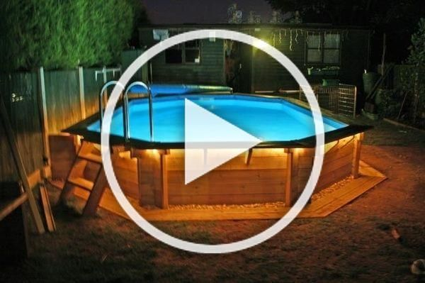 above ground pools - why didnt I think of rope lighting ...
