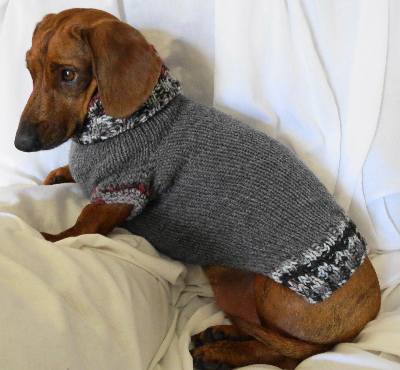 Dachshund Turtleneck Wool Sweater