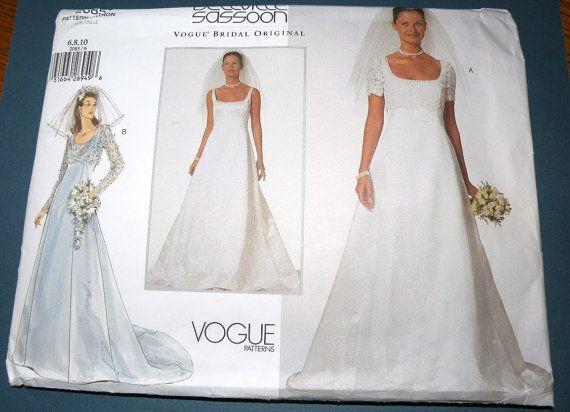 Vogue Bridal Patterns | ... Wedding Dress Pattern sizes 6-10 UNCUT ...