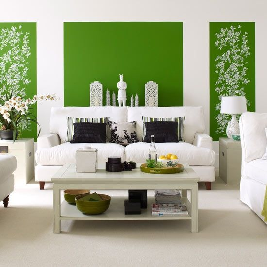 27 Relaxing Green Living Room Ideas Wave Avenue Living Room - wohnzimmer gelb streichen