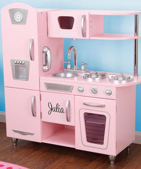 Pink Vintage Personalized Kitchen | Kids mud kitchen ...