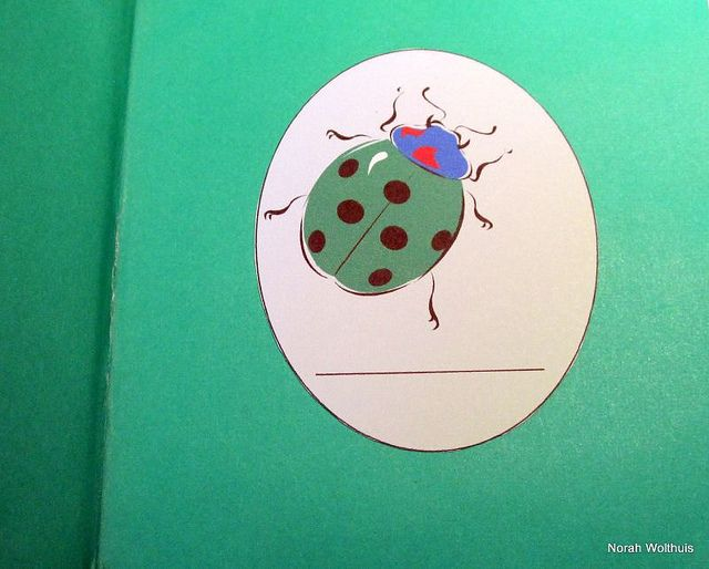 Inside cover of Lady Bug book.