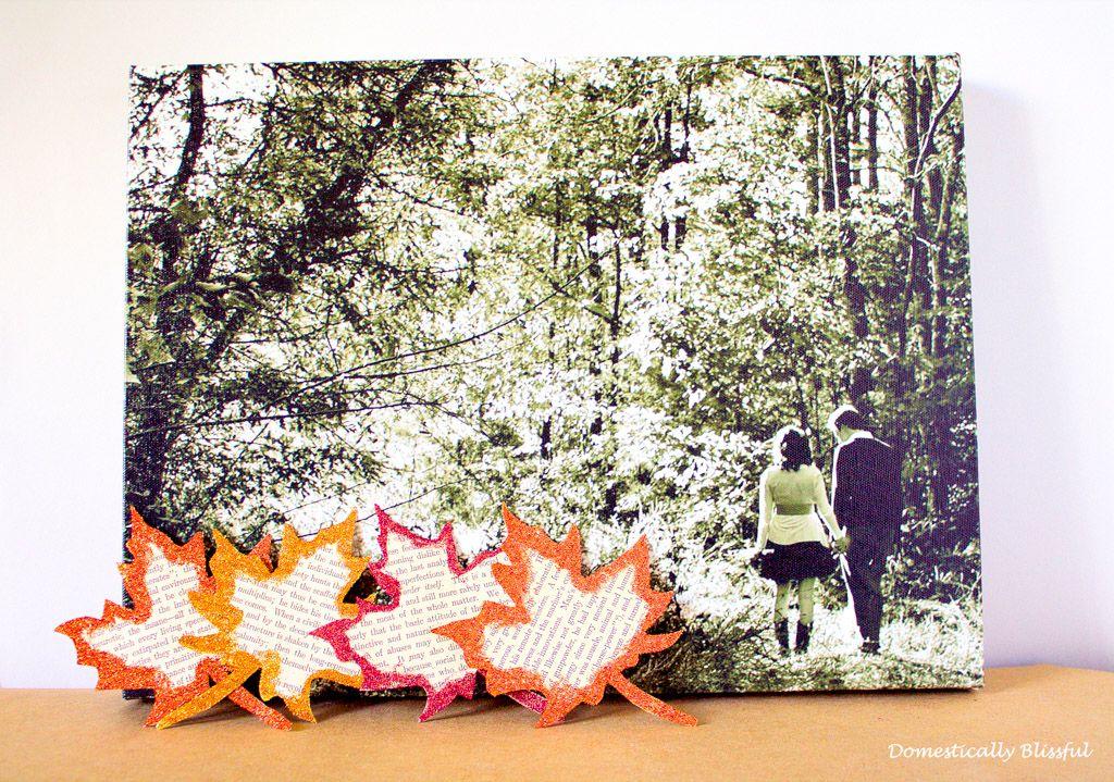Glitter Leaves for Fall