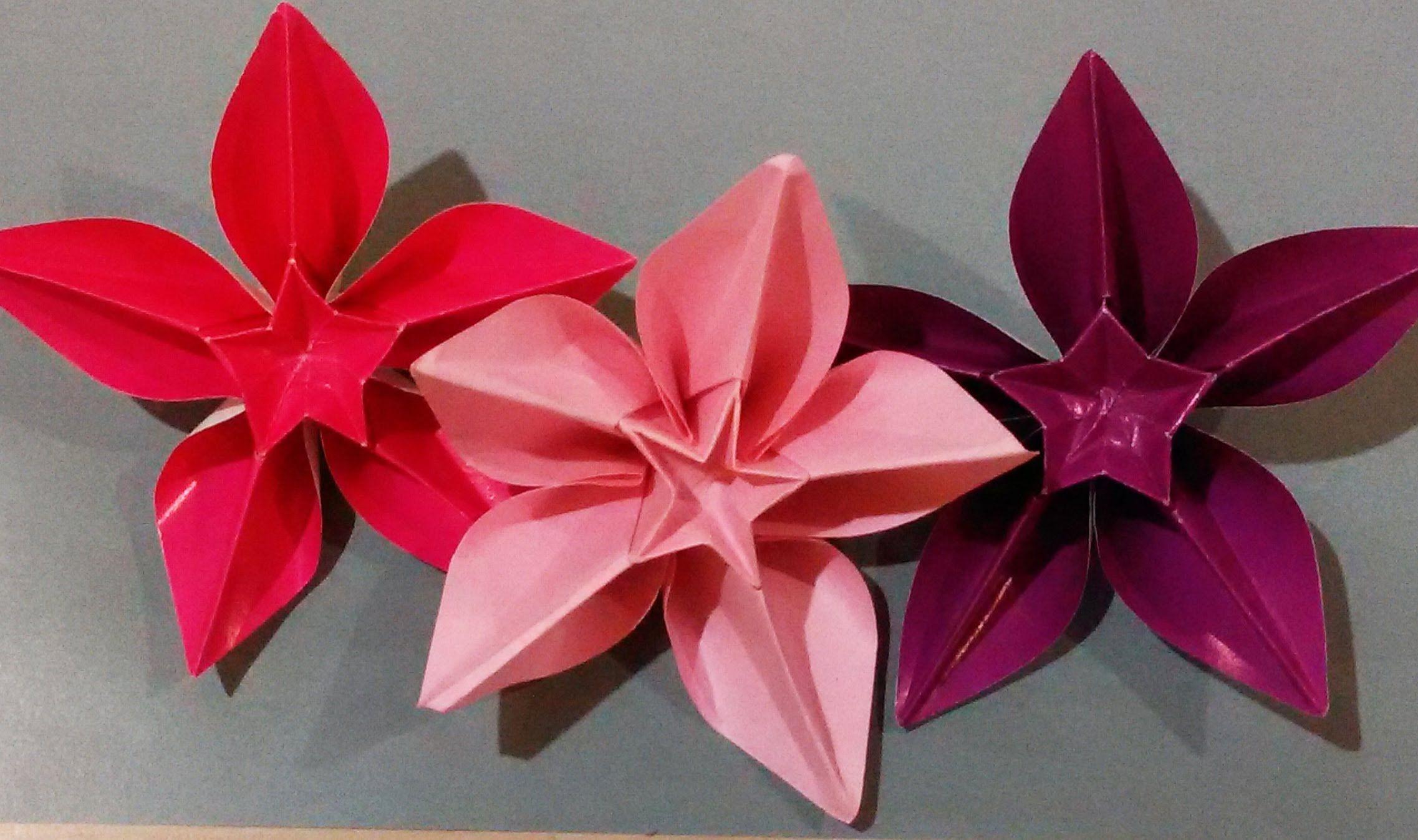 Origami Carambola Beautiful Paper Flower Enjoy Christmas Diy