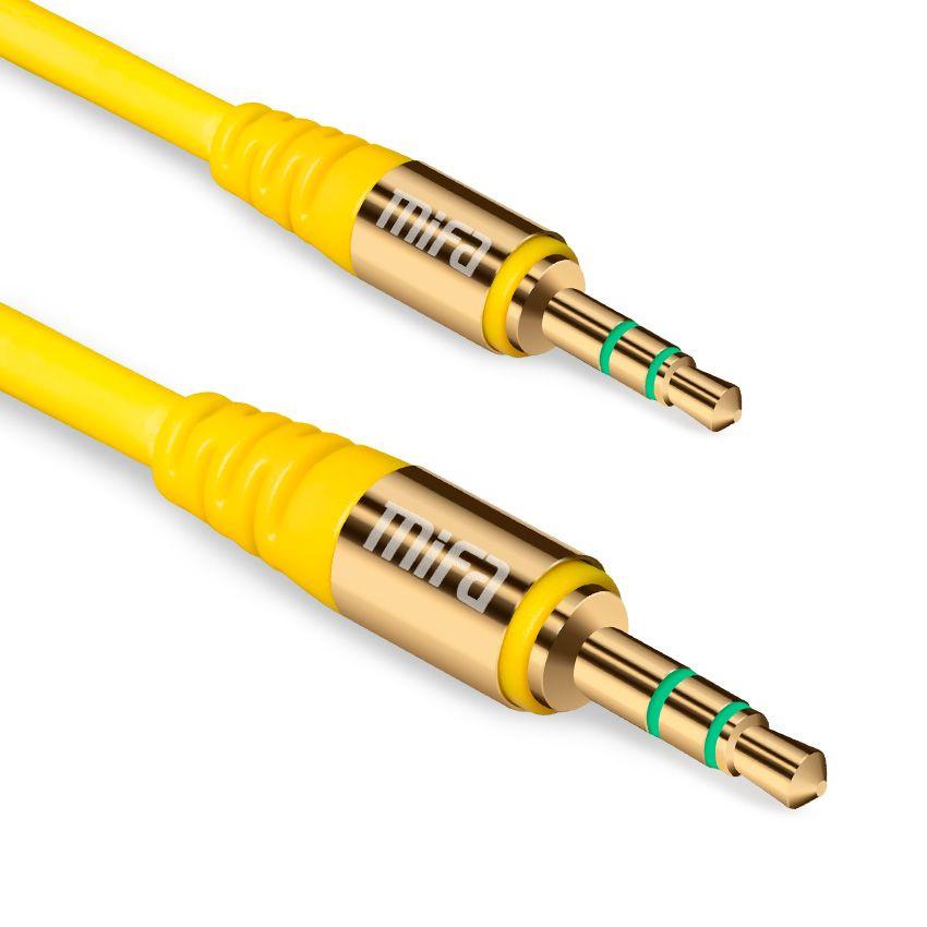 MIFA M Aleación De Aluminio Chapado En Oro Enchufe de 3.5mm Cable Aux Macho a macho de audio 1.2 m cable para iphone mp3/mp4 auriculares altavoz del coche