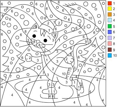 Nicoleu0027s Free Coloring Pages WINTER * Color by number Matematika - copy disney love coloring pages
