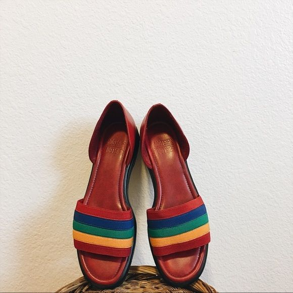 614945cbb3f7 Shoes - Vintage Rainbow Mootsies Tootsies D Orsay Flats