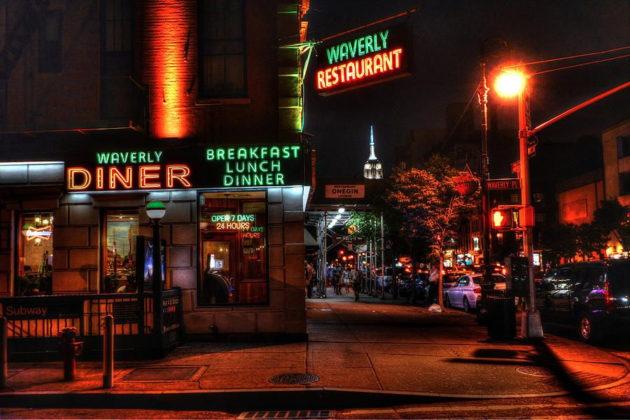 The Waverly Diner And Empire State Building Photograph