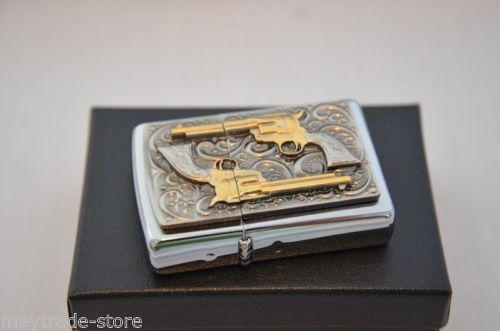 stunning-ZIPPO-lighter-Golden-Revolver-special-Edition-18K-dusted-gold-inlays