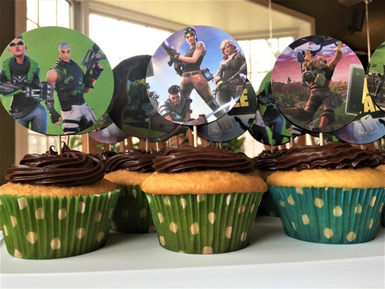 Fortnite Cupcake Topper Tutorial Cupcake Toppers Free Birthday