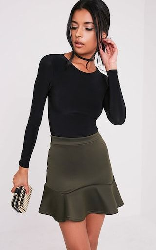 1326963f7b Pretty Little Thing Verity Flippy Hem Mini Skirt (Red, Khaki, Lilac, Camel,  Black) - $18