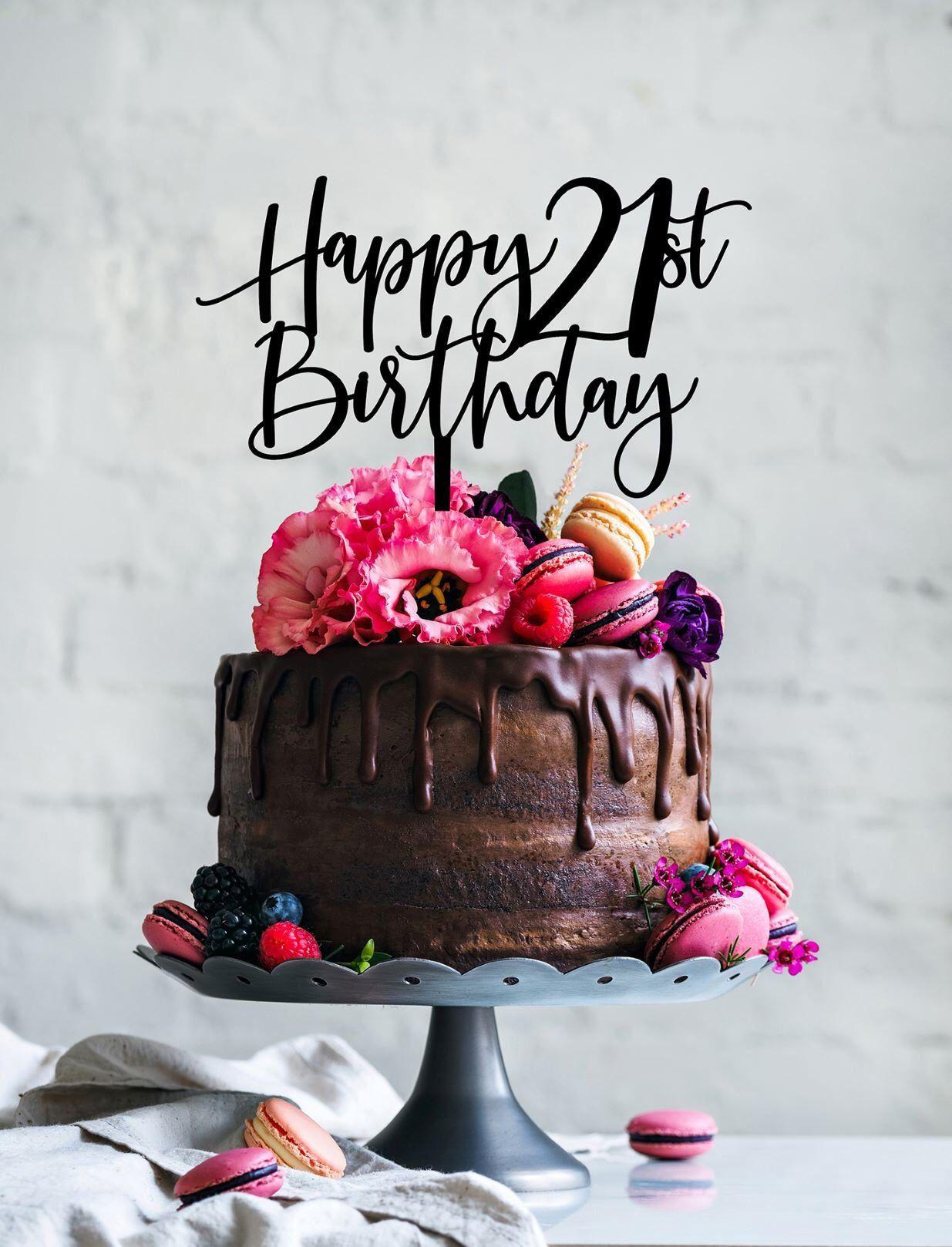 21st Birthday Cake Topper 21st cake topper Cake