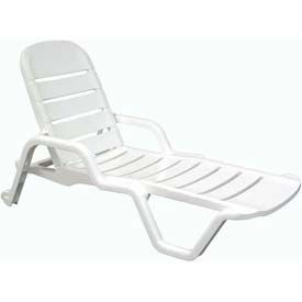 Siesta Chaise Lounge White Lounge Chair Outdoor Poolside