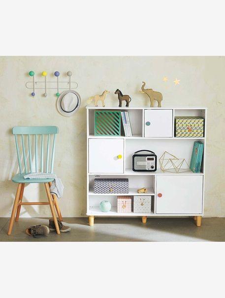 regal für kinderzimmer, 3 türen grau/weiß | kinderzimmer - pastell, Hause deko