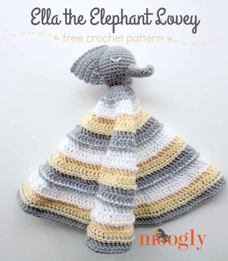 Ella the Elephant Lovey | Patrones, Croché y Manta de bebé