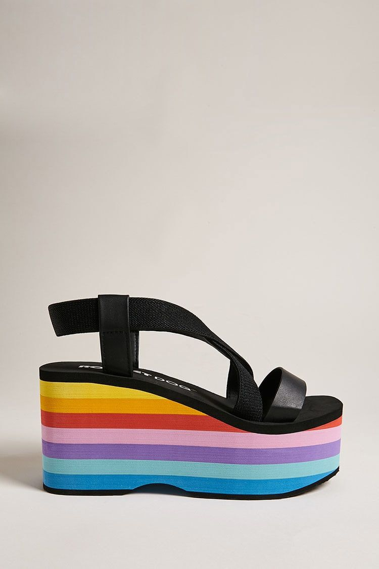 Rainbow platform sandals from Forever 21  Affiliate  forever21  rainbow   shoes  womensfashion  fashion
