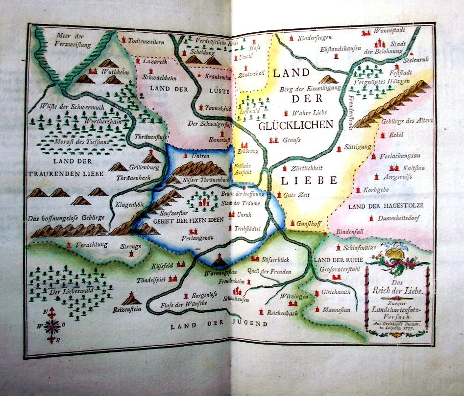 Two Very Sentimental Maps Were Published In The Sixteenth And