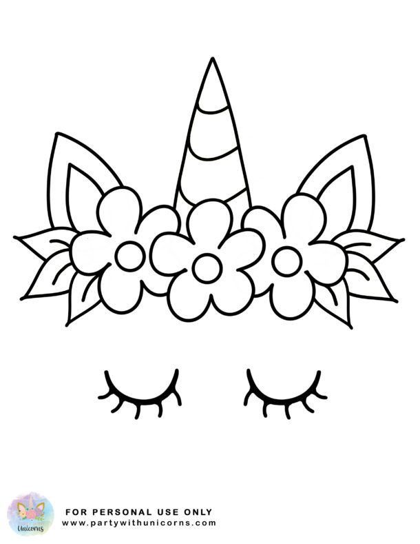 Unicorn Horn Coloring Page Youngandtae Com Unicorn Coloring Pages Unicorn Crafts Unicorn Drawing