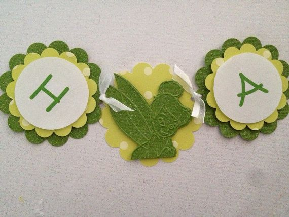 Tinkerbell banner by Fancymycupcake on Etsy, $16.00