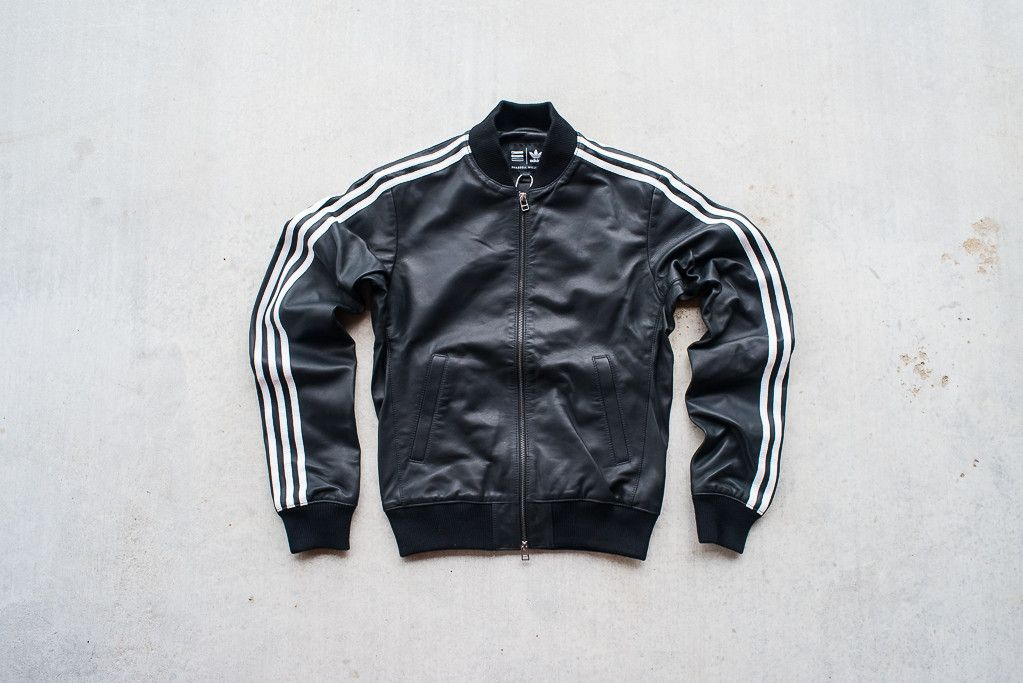 adidas leather track jacket