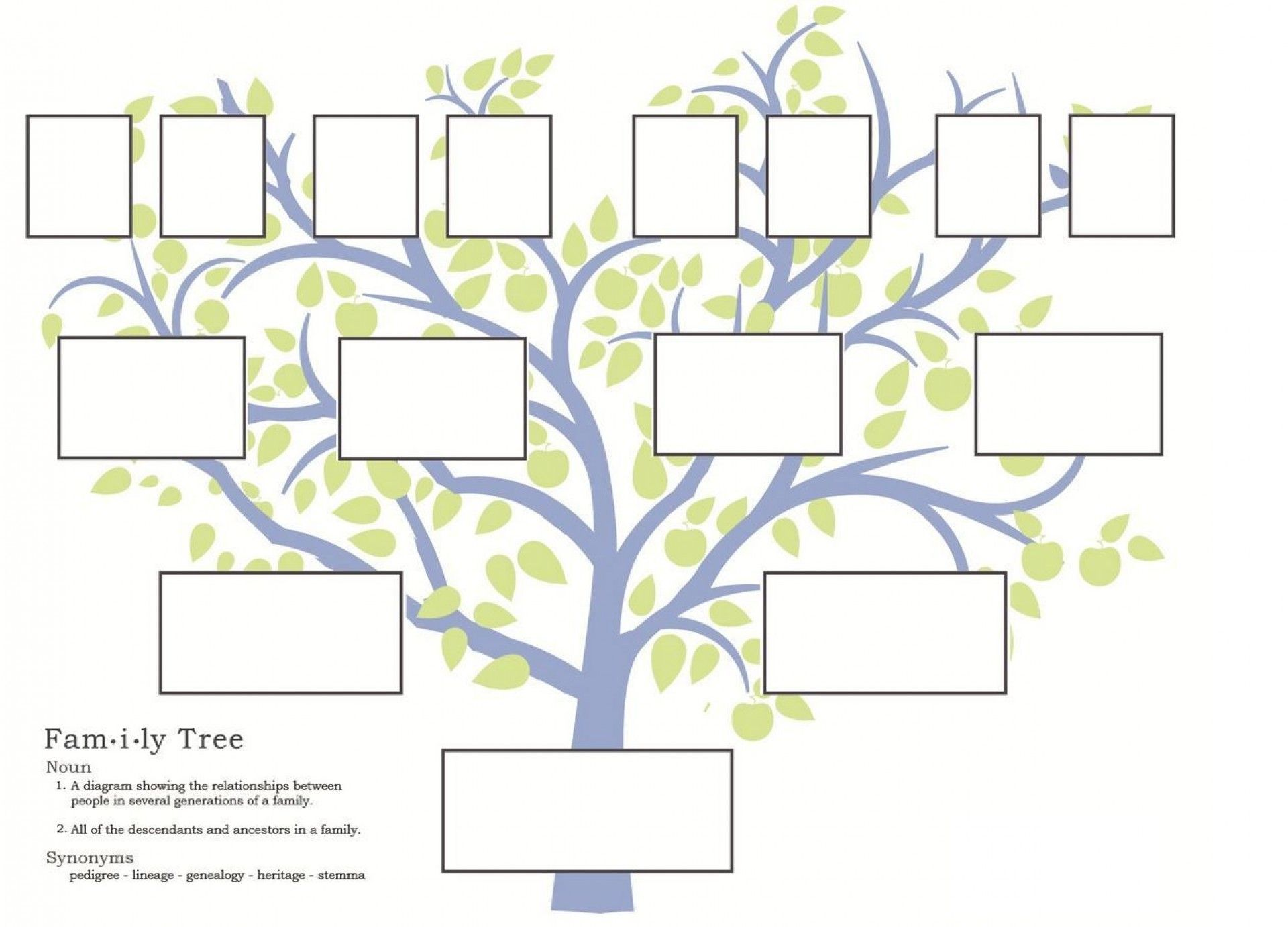 Family Tree Template Word 2007 With 3 Generation Family Tree