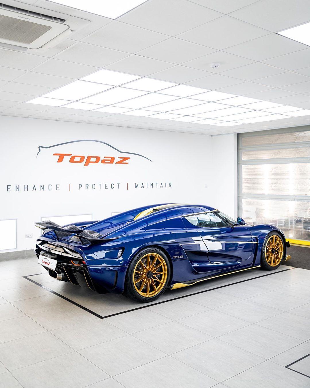"Topaz Detailing on Instagram: ""@zachs_garage's stunning Koenigsegg Regera, fully protected to the highest standard 💙 #Koenigsegg #Regera #TopazDetailing #PPF #London"""