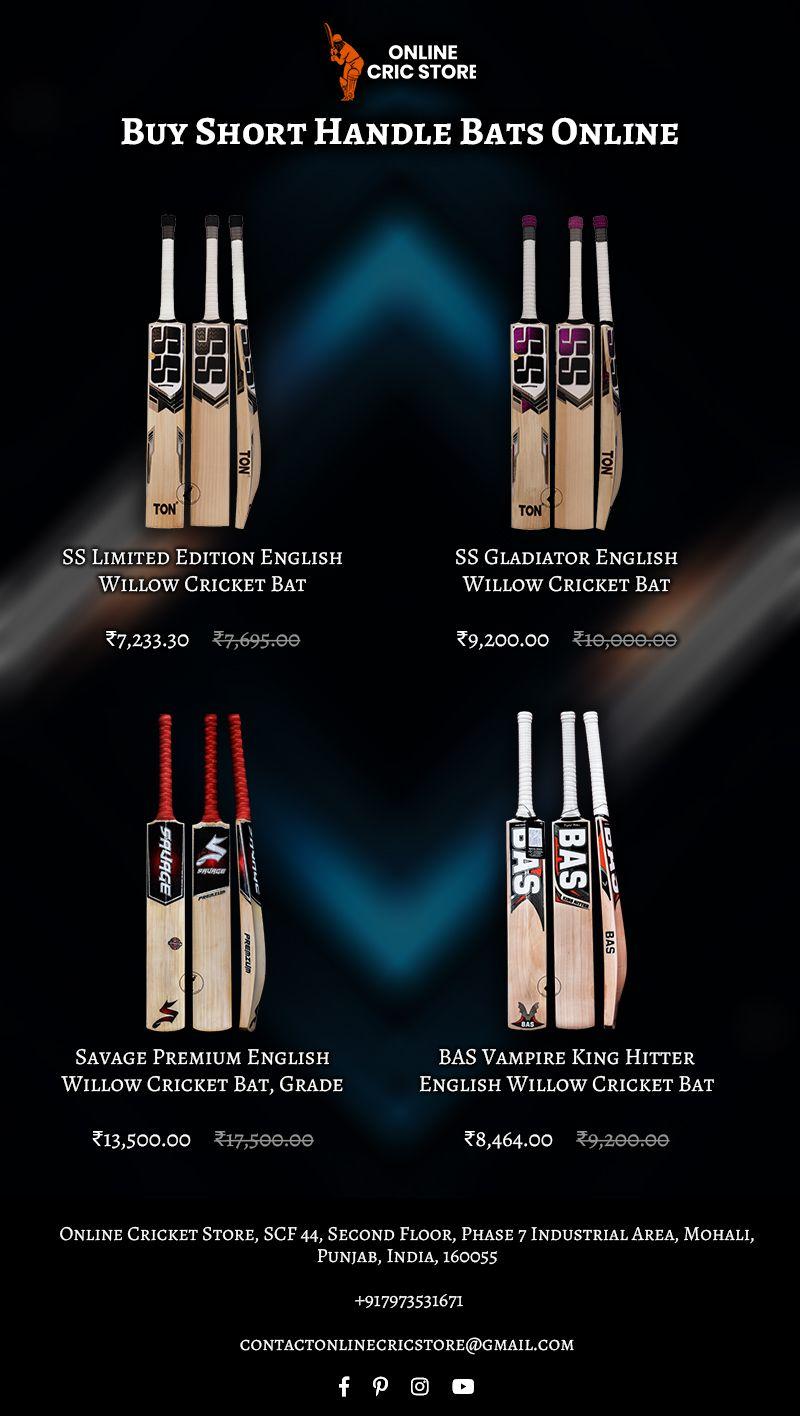 Buy Best FullSize Cricket Bat or Short Handle Online at